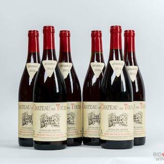 2014 Chateau des Tours Cotes du Rhone, Rayas, 6 bottles of 75cl.