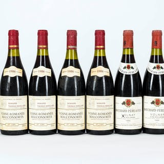 1986 Mixed Red Burgundy, 6 bottles of 75cl