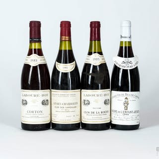 1980s Mixed Red Burgundy, 4 bottles of 75cl
