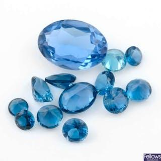 Selection of gemstones, net weight 40grams. Including garnets, topazes
