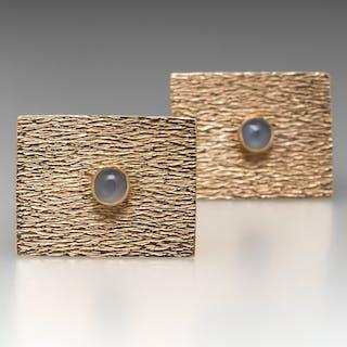 b83a46d2a41e Vintage Star Sapphire Mens Cufflinks 14K Gold