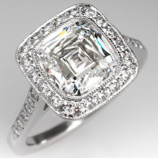388b99ebe Tiffany Legacy Engagement Ring Cushion Cut Diamond 2.8 Carat H/VVS1