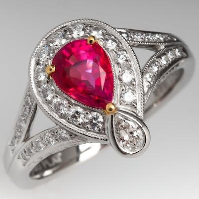 Richard Krementz Padparadscha Sapphire Ring