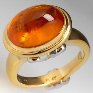Joanne Mulhull Bezel Set Garnet Cocktail Ring 18K