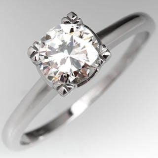 Vintage Round Brilliant Cut Diamond Solitaire Engagement...