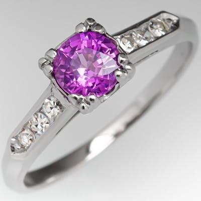 No Heat Color Change Montana Sapphire Engagement Ring .62ct
