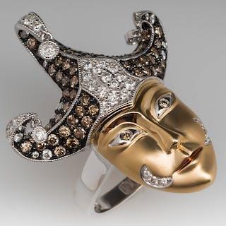Neda Behnam Jester Cocktail Ring w/ Diamonds 14K