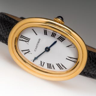 Ladies Cartier Baignoire Watch 18k Mechanical Small 1980's