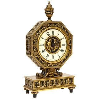 E.F. Caldwell & Co., an American Gilt and Patinated Bronze Clock