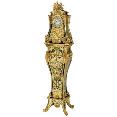 A Rare and Important French Louis XIV Gilt-Bronze Mounted Boulle Marquetry