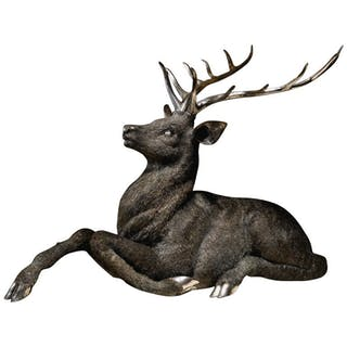 Gianmaria Buccellati, a Rare and Exceptional Italian Silver Deer Stag