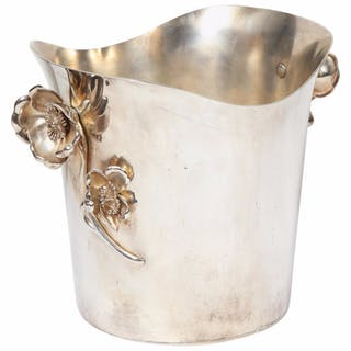 "Christofle Paris Silver Plated ""Anemone"" Champagne Bucket / Wine Cooler"