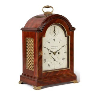 VERY RARE CHIPPENDALE MAHOGANY BRACKET CLOCK, WORKS BY THOMAS PARKER
