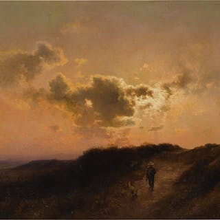 HERMAN HERZOG | SUNSET IN THE DUNES
