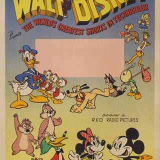 WALT DISNEY PRESENTS THE WORLD'S GREATEST SHORTS (1940) POSTER, BRITISH