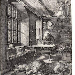 ALBRECHT DÜRER | SAINT JEROME IN HIS STUDY (B. 60; M., HOLL. 59)