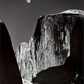 ANSEL ADAMS | 'MOON AND HALF DOME, YOSEMITE NATIONAL PARK'