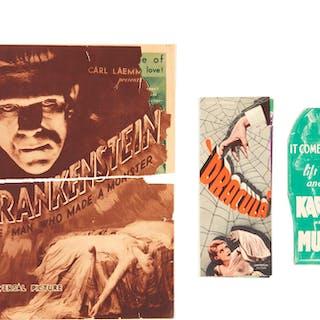 FRANKENSTEIN / DRACULA / THE MUMMY (1931/1931/1932) HERALDS, US