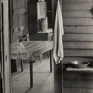 WALKER EVANS | WASHROOM AND DINING AREA OF FLOYD BURROUGHS' HOME