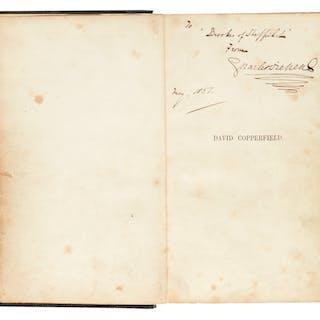 Dickens, David Copperfield, 1850, presentation copy inscribed to Brookes