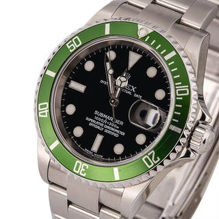 ROLEX | Submariner, Ref. 16610LV, A Stainless Steel Wristwatch with