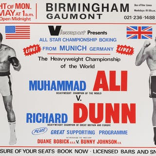 MUHAMMAD ALI VS. RICHARD DUNN (1976) POSTER, BRITISH