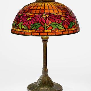"TIFFANY STUDIOS | ""POINSETTIA"" TABLE LAMP"
