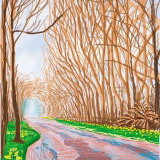 DAVID HOCKNEY | THE ARRIVAL OF SPRING IN WOLDGATE, EAST YORKSHIRE