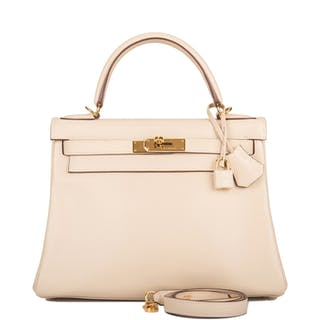Hermès Parchemin Kelly 28cm of Swift Leather with Gold Hardware