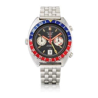 HEUER | AUTAVIA GMT, REF 11630 STAINLESS STEEL DUAL TIME CHRONOGRAPH