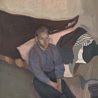 ALISON WATT | PORTRAIT OF A YOUNG MAN BY THE BED
