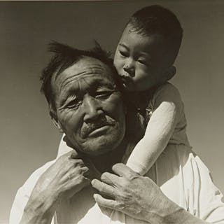 DOROTHEA LANGE | GRANDFATHER AND GRANDSON, JAPANESE RELOCATION CAMP