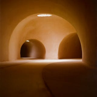 JAMES CASEBERE | TWO TUNNELS FROM THE RIGHT (VERTICAL)