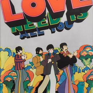 YELLOW SUBMARINE: ALL YOU NEED IS LOVE (1968) POSTER, BELGIAN