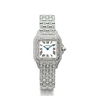 CARTIER | REF 1660 PANTHÉRE, A LADY'S WHITE GOLD AND DIAMOND SET WRISTWATCH