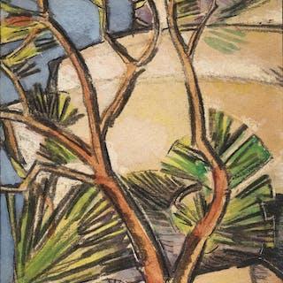 JOHN DUNCAN FERGUSSON, R.B.A. | MEDITERRANEAN GLORY, ANTIBES