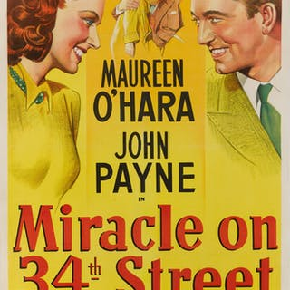 MIRACLE ON 34TH STREET (1947) POSTER, US