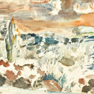 PAUL NASH | LANDSCAPE WITH INHABITED SKY