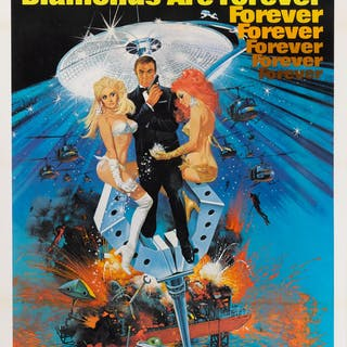 DIAMONDS ARE FOREVER (1971) POSTER, US