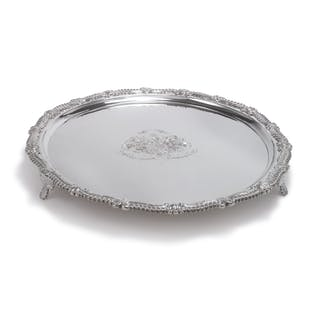 A SCOTTISH SILVER SALVER, GEORGE FENWICK, EDINBURGH, 1814