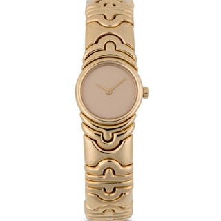 BULGARI | PARENTESI, BJ 01 YELLOW GOLD BRACELET WATCH  CIRCA 1995