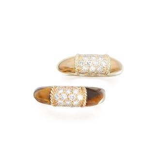 TWO DIAMOND RINGS, VAN CLEEF & ARPELS, FRANCE