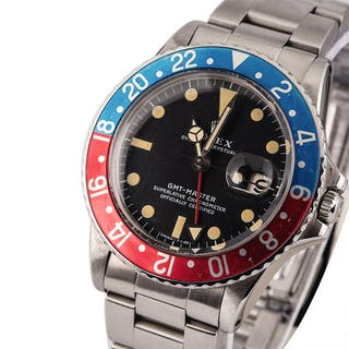 ROLEX | GMT-Master, Ref. 1675, A Stainless Steel Wristwatch with Bracelet