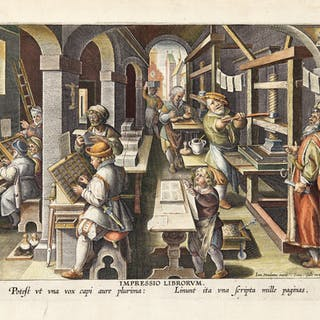 AFTER JAN VAN DER STRAET, CALLED STRADANUS | THE INVENTION OF BOOK