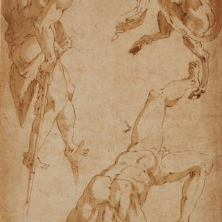 MARCO MARCHETTI, CALLED MARCO DA FAENZA | Studies of acrobats