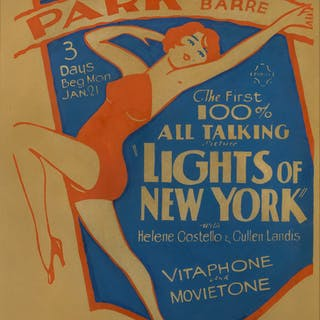 LIGHTS OF NEW YORK (1928) POSTER, US