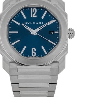 BULGARI | OCTO, REF BGO 38 S STAINLESS STEEL AUTOMATIC WRISTWATCH