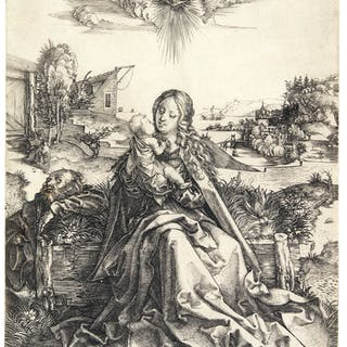 ALBRECHT DÜRER | THE HOLY FAMILY WITH THE BUTTERFLY (B. 44; M., HOLL. 42)