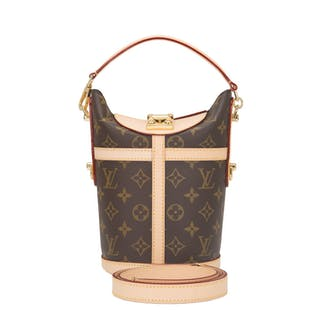Louis Vuitton Monogram Duffle Bag PM of Coated Canvas and Gold Tone Hardware