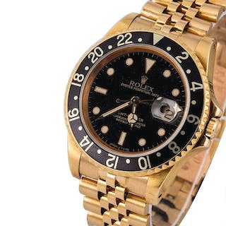 ROLEX | GMT-Master, Ref. 16758, A Yellow Gold Wristwatch with Bracelet